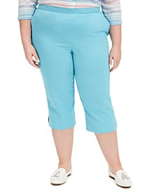 Plus Size Sea You There Pull-On Capris