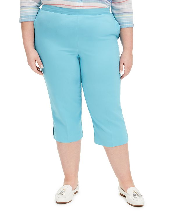Alfred Dunner Plus Size Sea You There Pull-On Capris