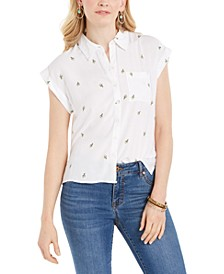 Cactus-Print Camp Shirt, Created for Macy's