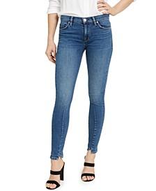 Tulip-Hem Skinny Jeans