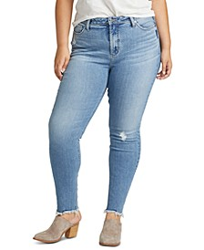 Trendy Plus Size High Note Ripped Skinny Jeans