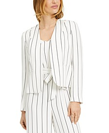 Open-Front Striped Jacket, Created for Macy's