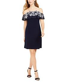 Embellished Off-The-Shoulder Dress