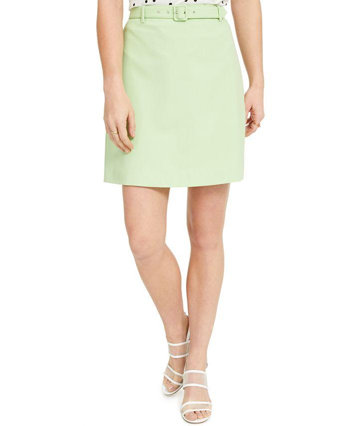 Bar III - Belted Mini Skirt