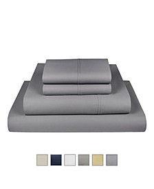 The Village 500 Thread Count Cotton Full Sheet 4-Piece Set, Fits Mattress Upto 17""