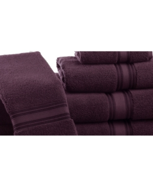 Addy Home Fashions Zero Twist Bath Towels Set - 6 Piece Bedding In Burgundy