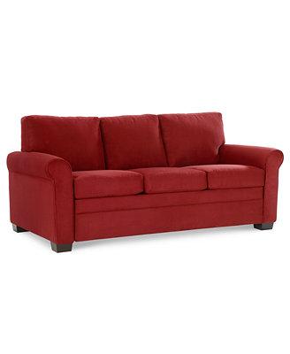 """Kenzey Sofa Bed Queen Sleeper 76""""W x 40""""D x 35""""H Furniture Macy s"""