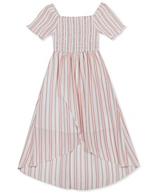 Big Girls Striped High-Low Dress