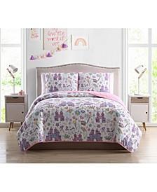 MHF Home Kids Unicorn Magic Castle Quilt Sets