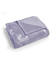 MHF Home Kids Unicorn Dreams Velvet Plush Twin Blanket