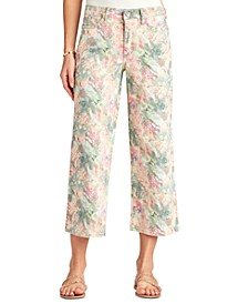 Chelsea Cropped Printed Wide-Leg Jeans