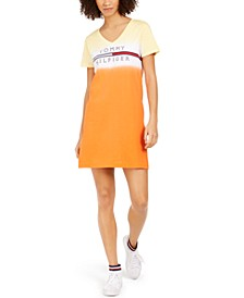 Cotton Ombré Logo T-Shirt Dress