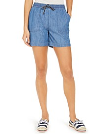 Chambray Pull-On Shorts