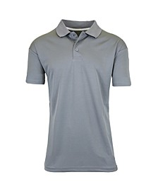 Men's Tagless Dry-Fit Moisture-Wicking Polo Shirt