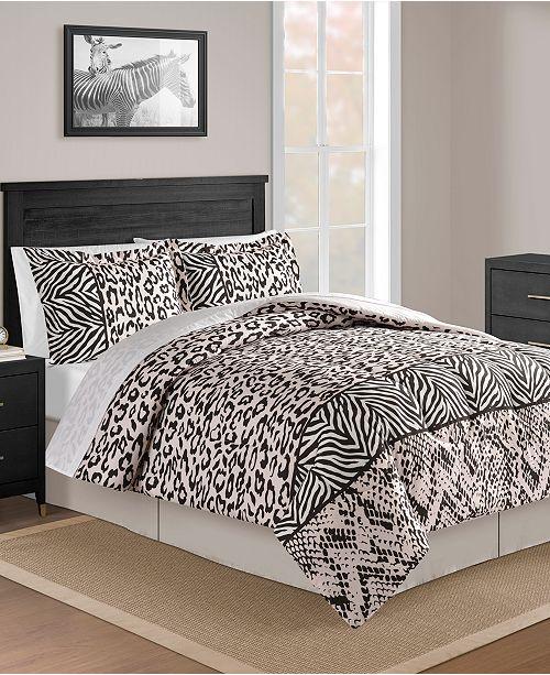 Fairfield Square Collection CLOSEOUT! Safari Blush 8-Pc. Queen Comforter Set
