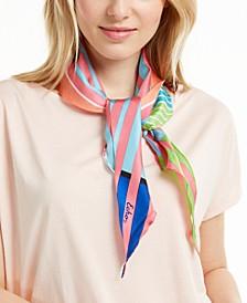 Colorful Stripes Silk Diamond Scarf