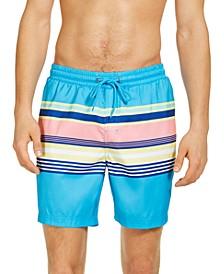 """Men's Skate Stripe 7"""" Swim Trunks, Created for Macy's"""