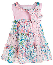 Bonnie Baby Baby Girls Chiffon Tiered Dress