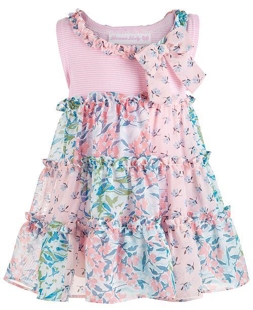 Bonnie Baby Baby Girls Chiffon Tiered Dress