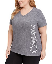 Plus Size Logo V-Neck T-Shirt