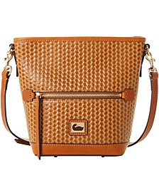Camden Woven Leather Crossbody Bag