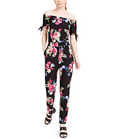 Juniors' Yummy Off-The-Shoulder Jumpsuit