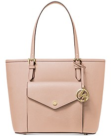 Jet Set Medium Leather Pocket Tote