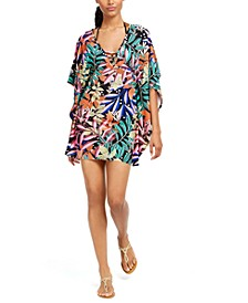 Hidden Jungle Printed Tunic Cover-Up, Created for Macy's