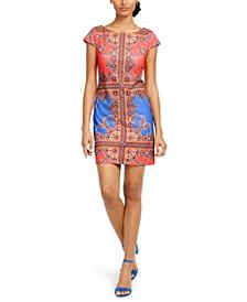 Colorblocked Scuba Shift Dress