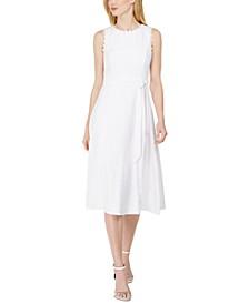 Daisy-Trim A-Line Dress