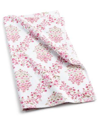 "Pink Botanical Garden Cotton 30"" x 54"" Bath Towel"