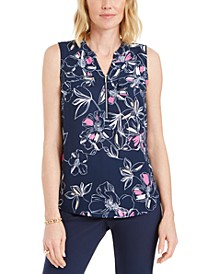Printed Sleeveless Utility Blouse, Created for Macy's