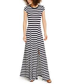 Michael Michael Kors Striped Maxi Dress, Regular & Petite Sizes