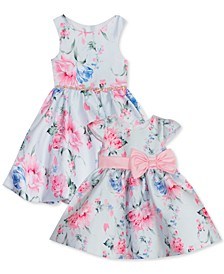 Baby, Toddler & Little Girls Floral Mikado Dress