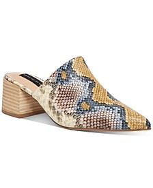 Women's Fedor Block-Heel Slip-On Mules