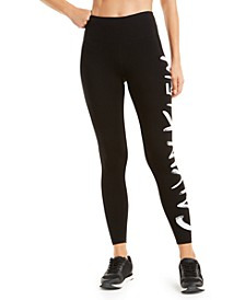 Brushed-Logo Leggings