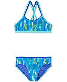 Big Girls 2-Pc. Swim Blur T-Crossback Bikini Set