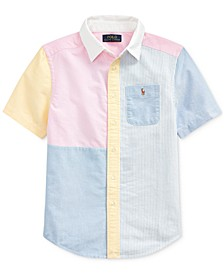 Big Boys Cotton Oxford Fun Shirt