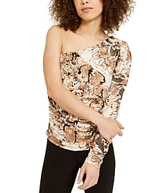 INC One-Shoulder Top, Created for Macy's