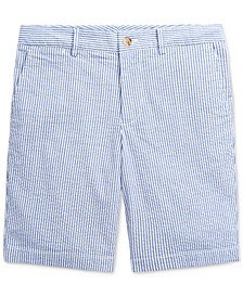 Big Boys Slim Stretch Seersucker Shorts