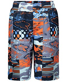 Big Boys Printed Swim Trunks