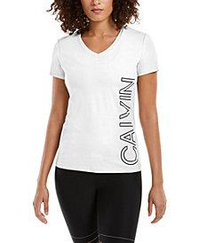 Calvin Klein Performance Outline-Logo V-Neck T-Shirt