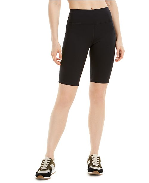Ideology Side-Pocket Bike Shorts, Created for Macy's