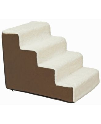 Precious Tails High Density Foam Sherpa 4 Steps Pet Stairs