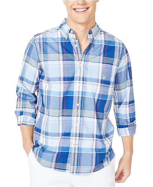 Nautica Men's Blue Sail Plaid Shirt, Created for Macy's