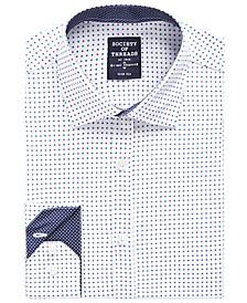 Men's Slim-Fit Performance Dot Print Dress Shirt