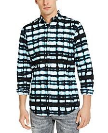 INC Men's Abstract Plaid Shirt, Created for Macy's