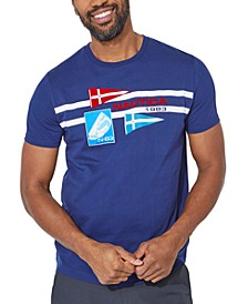Men's Flag With Sailboat N83 Graphic T-Shirt