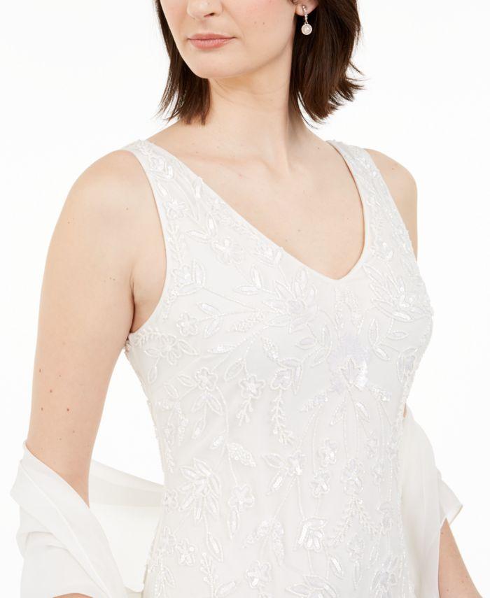 J Kara Beaded Gown & Scarf & Reviews - Dresses - Women - Macy's