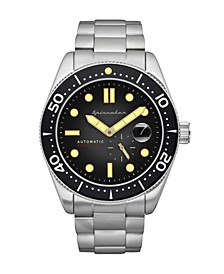 Men's Croft Automatic Silver-Tone Stainless Steel Solid Bracelet Watch 43mm
